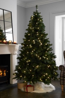 7ft Pre Lit Forest Pine Christmas Tree