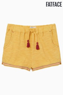 FatFace Yellow Jersey Embroidered Shorts