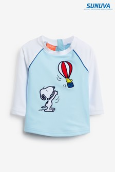 Sunuva Blue Snoopy Long Sleeve Rash Vest
