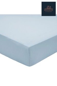 Bedeck of Belfast Plain Dye Cotton Percale Fitted Sheet