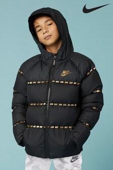 Nike Black/Gold Filled Down Jacket