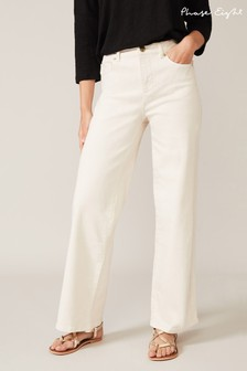 Phase Eight Cream Viona Wide Leg Jeans