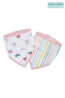 aden + anais Floral Fauna Essentials Bandana Bibs Two Pack