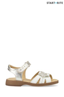 Start-Rite Twinkle White/Silver Leather Sandals