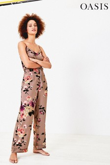 Oasis Natural Pineapple Trousers