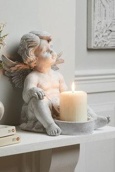 Cherub Pillar Candle Holder