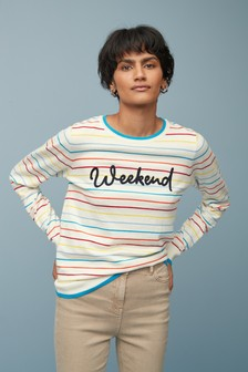 Weekend Slogan Jumper
