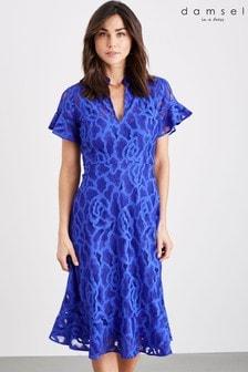 שמלת תחרה כחולה דגם Lulu של Damsel In A Dress
