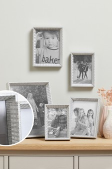Set of 5 Silver Isabella Photo Frames