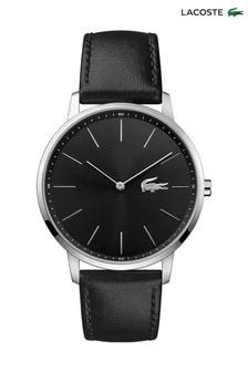 Lacoste Black Leather Moon Watch
