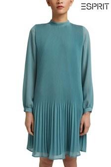 Esprit Blue Long Sleeve Woven Dress