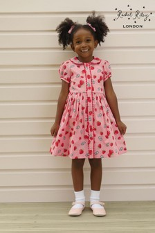 Rachel Riley Pink Strawberry Dress