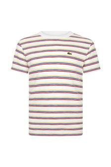 Lacoste Kids Boys Cream Cotton T-Shirt