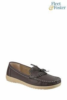 Fleet & Foster Brown Elba Loafer Shoes