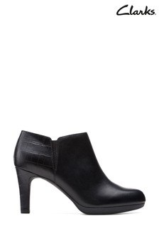 Clarks Black Combi Adriel Lily Boots