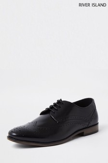 River Island Black Classic Leather Brogues