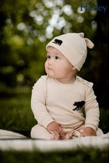 Hatley Cream Natural Little Bear Bum Baby Coverall & Hat