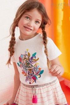 Mint Velvet Ivory Tiger Print T-Shirt