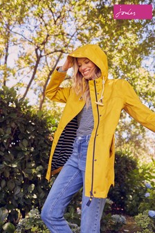 Joules Yellow Coast Mid Waterproof Coat