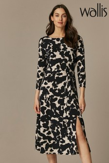 Wallis Monochrome Animal Print Jersey Dress