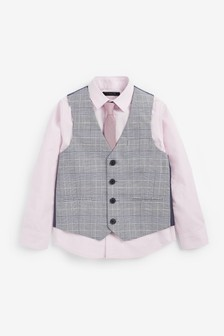 Waistcoat, Shirt And Tie Set (12mths-16yrs)