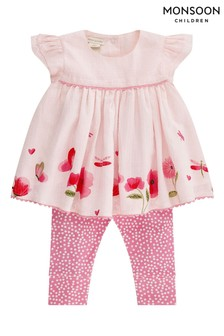 Monsoon Pink Newborn Baby Pippa Set