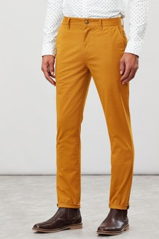 Joules Yellow The Laundered Chinos