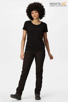 Regatta Black Womens Geo II Softshell Trousers