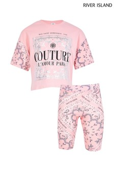 River Island Coral Couture Print Set