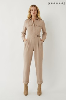 Warehouse Natural Utility Boiler Jumpsuit