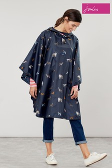 Joules Blue Poncho Dog Cover Up