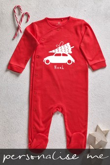 Personalised Christmas Car Sleepsuit