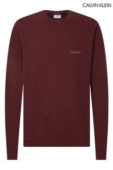 Calvin Klein Red Logo Embroidery Sweatshirt