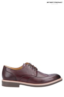 Steptronic Red George Lace-Up Brogue Shoes