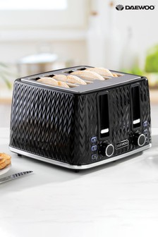 DAEWOO Argyle 4 Slot Toaster