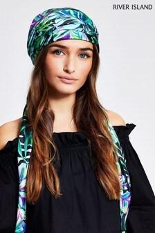 River Island Green Monica Midnight Headscarf