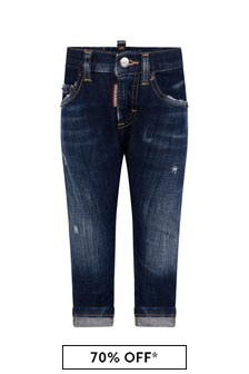 Dsquared2 Kids Baby Blue Denim Jeans