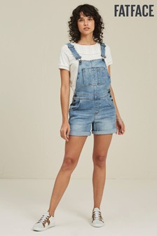 FatFace Blue Shortie Dungarees