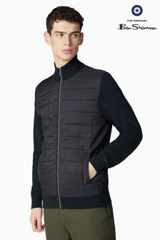 Ben Sherman Black Nylon Panel Fleece