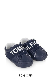 Baby Boys Navy Pre-Walker Trainers
