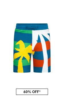 Stella McCartney Kids Boys Green Cotton Shorts