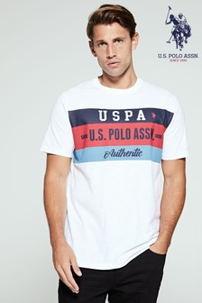 U.S. Polo Assn. White Graphic T-Shirt