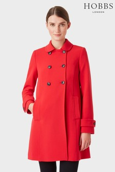 Hobbs Red Adrienne Coat