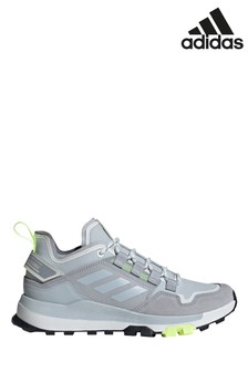 adidas Grey/White Terrex Hikster Low Hiking Trainers