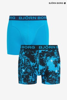 Bjorn Borg Star Print And Solid Colour Trunks Two Pack
