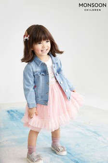 Monsoon Blue Baby Freya Blue Denim Jacket