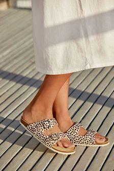 Womens Animal Print Sandals | Regular