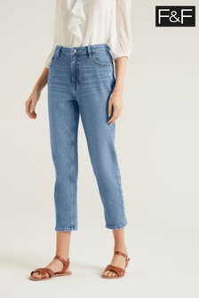 F&F Mom Mid Wash Jeans