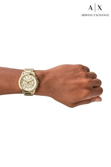 Armani Exchange Mens Gold Tone Drexler Watch