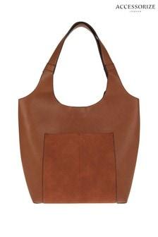 Accessorize Tan Kathy Casual Hobo Bag